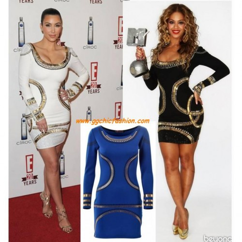 7f75140b26 Hot Long Sleeves Bodycon Dress In The Style Of Kim Kardashian And Beyonce