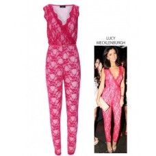 Celebrity Sweetheart Lace Jumpsuit
