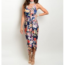 Tamy Navy Floral Dress